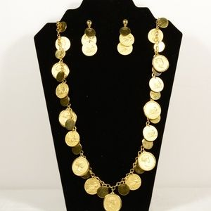 Vintage Monet Lucca to Pisa Necklace and Earrings